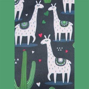 Bags - BLACK Llama and Cactus Tote Bag